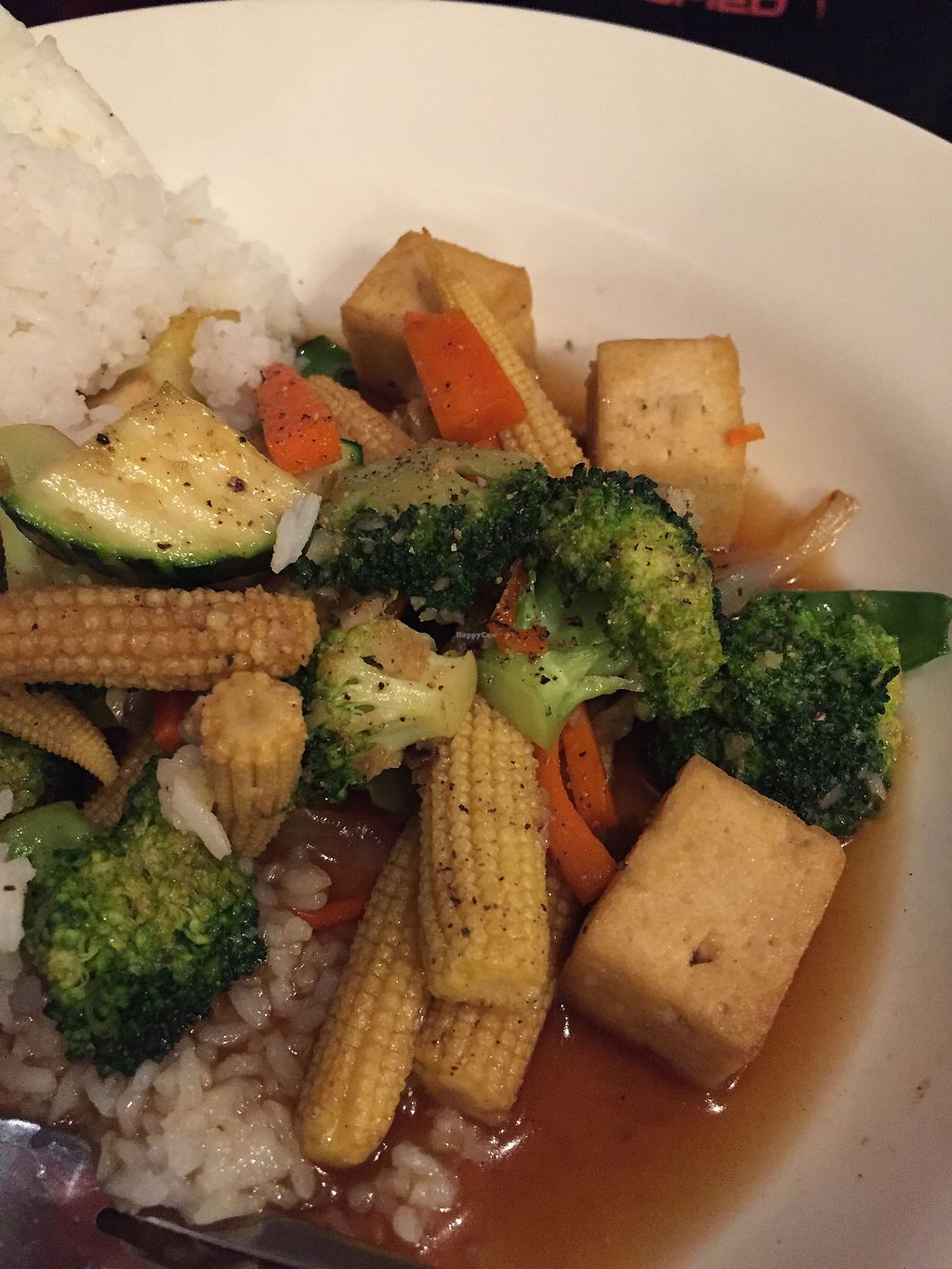 "Photo of Red Spoon  by <a href=""/members/profile/CeciliaM"">CeciliaM</a> <br/>Veganised pepper and garlic Veg and tofu stir fry  <br/> October 18, 2017  - <a href='/contact/abuse/image/43606/316484'>Report</a>"