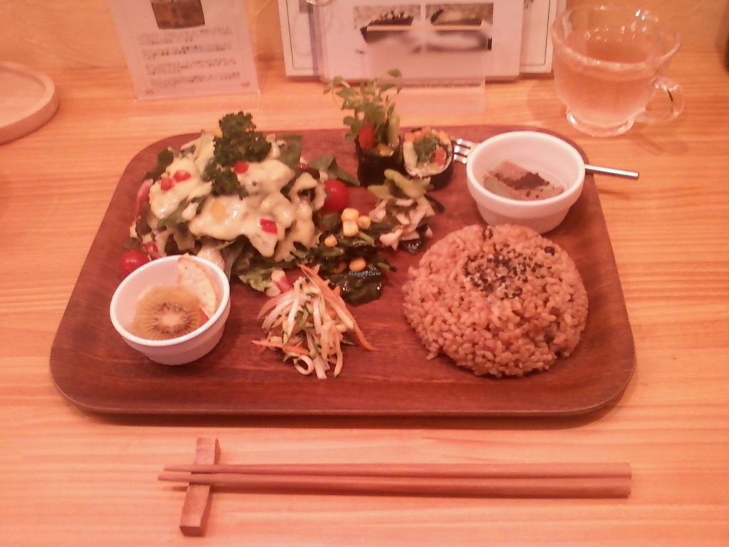 """Photo of CLOSED: Heureuse Vie  by <a href=""""/members/profile/DairyFreeInNC"""">DairyFreeInNC</a> <br/>Raw lunch set from August 2011 <br/> November 30, 2015  - <a href='/contact/abuse/image/43638/126757'>Report</a>"""