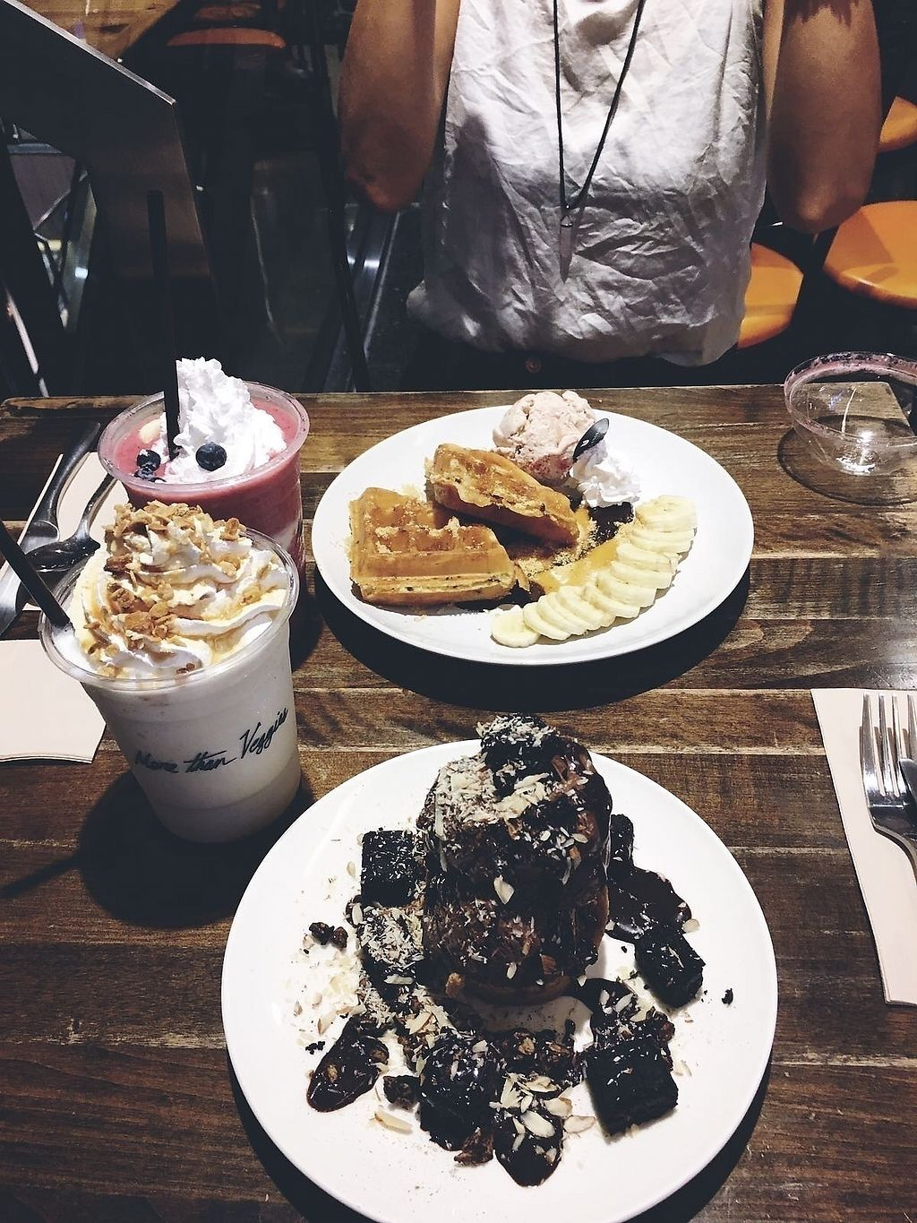 """Photo of Veganerie - Mercury Ville  by <a href=""""/members/profile/Tara_91"""">Tara_91</a> <br/>Waffles, brownies, shakes, all yummm <br/> July 20, 2017  - <a href='/contact/abuse/image/43651/282361'>Report</a>"""