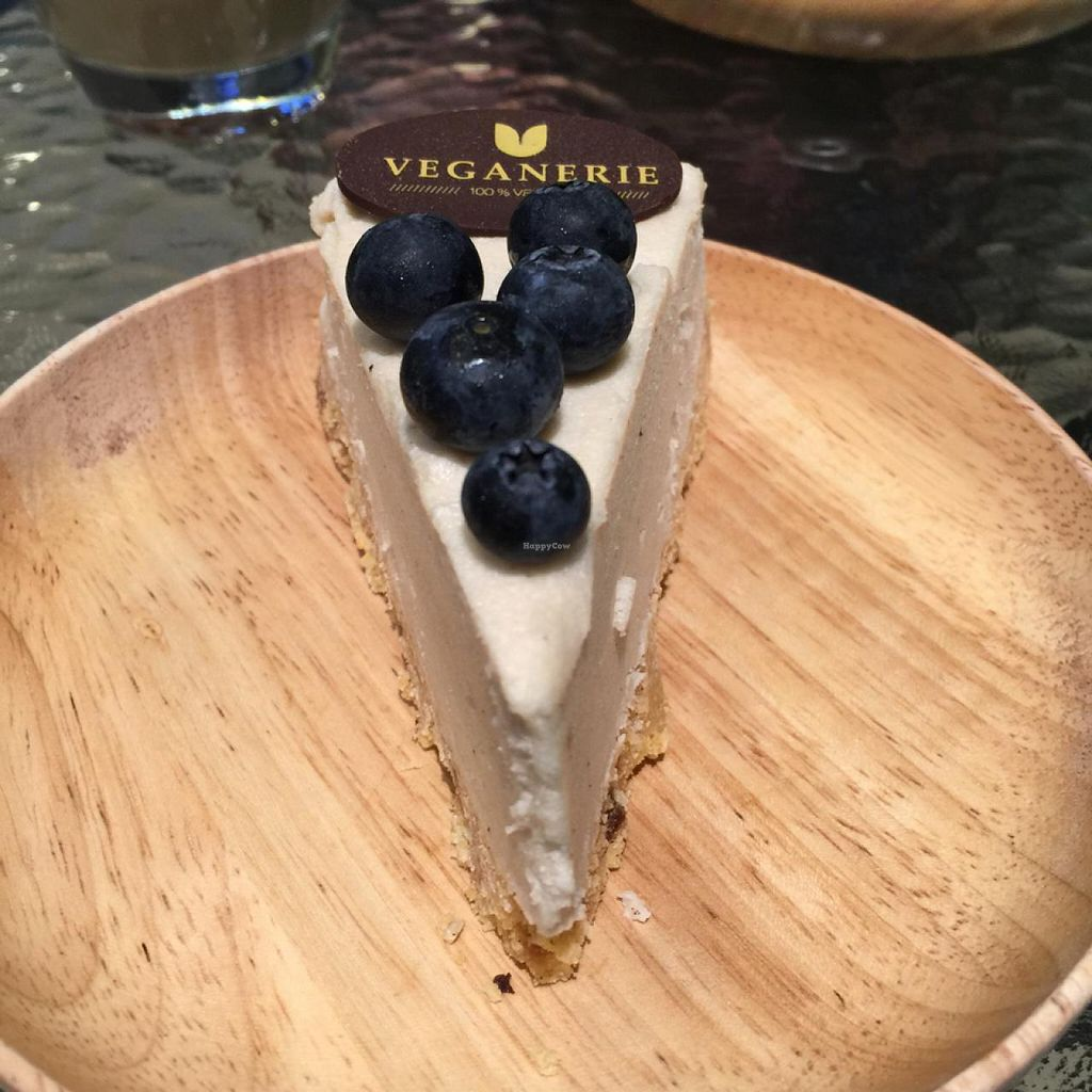 """Photo of Veganerie - Mercury Ville  by <a href=""""/members/profile/earthville"""">earthville</a> <br/>blueberry 'cheese'cake <br/> February 28, 2015  - <a href='/contact/abuse/image/43651/94338'>Report</a>"""