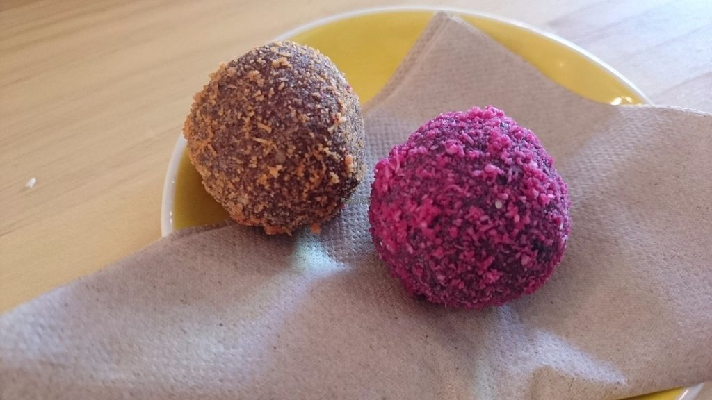 "Photo of The Plant Organic Cafe and Market  by <a href=""/members/profile/Cynthia1998"">Cynthia1998</a> <br/>The Plant's famous bliss balls <br/> October 2, 2016  - <a href='/contact/abuse/image/43667/179237'>Report</a>"