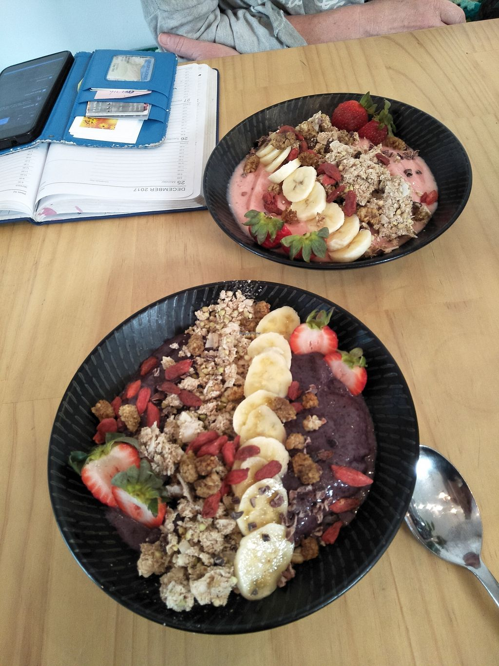 "Photo of The Plant Organic Cafe and Market  by <a href=""/members/profile/Cynthia1998"">Cynthia1998</a> <br/>Acai bowl and strawberry baobab smoothie bowl <br/> December 29, 2017  - <a href='/contact/abuse/image/43667/340405'>Report</a>"