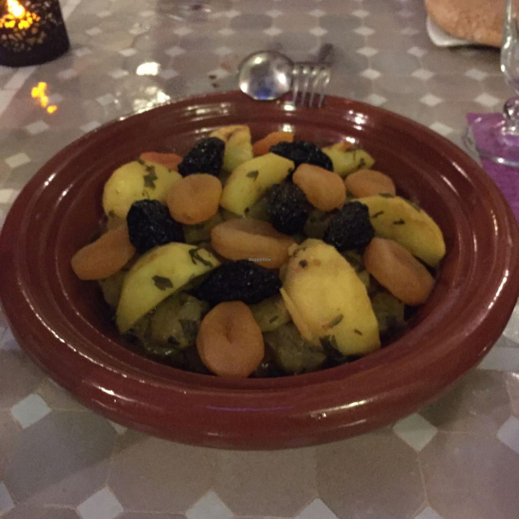 "Photo of Dar Attajalli  by <a href=""/members/profile/srodriguezch"">srodriguezch</a> <br/>artichoke and pea tajine <br/> June 21, 2016  - <a href='/contact/abuse/image/43686/155384'>Report</a>"