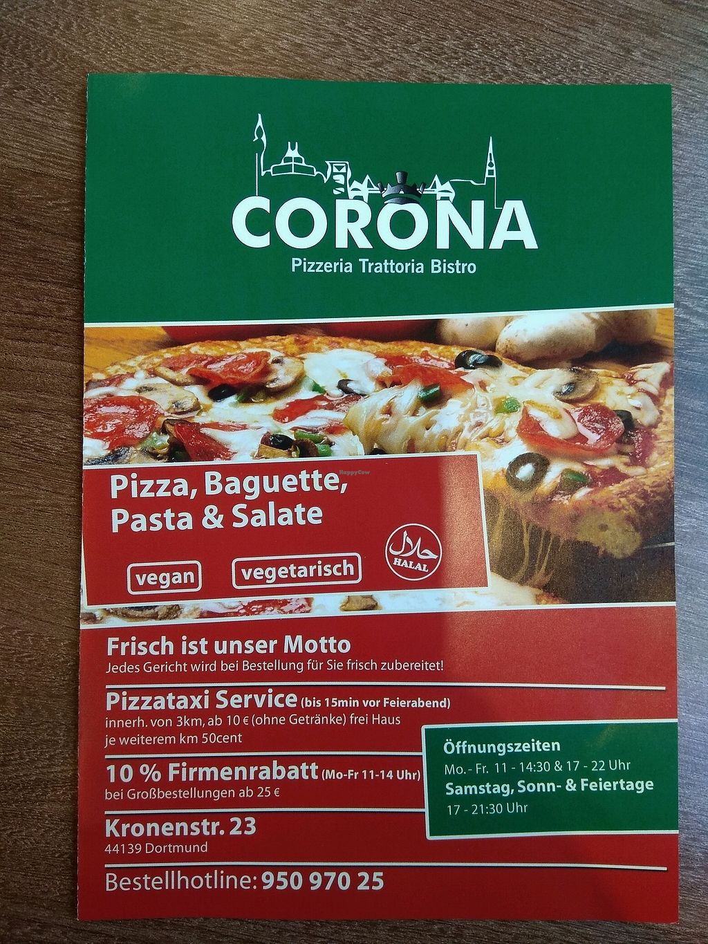 """Photo of Corona Pizzeria and Trattoria  by <a href=""""/members/profile/bikegirl"""">bikegirl</a> <br/>Flyer 01 <br/> March 31, 2018  - <a href='/contact/abuse/image/43698/378923'>Report</a>"""