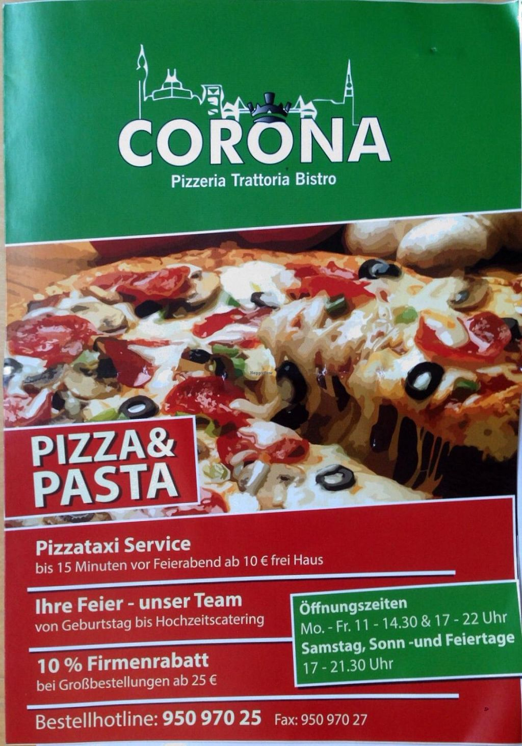 """Photo of Corona Pizzeria and Trattoria  by <a href=""""/members/profile/Abgas"""">Abgas</a> <br/>Menu - page 1 <br/> January 6, 2014  - <a href='/contact/abuse/image/43698/61886'>Report</a>"""