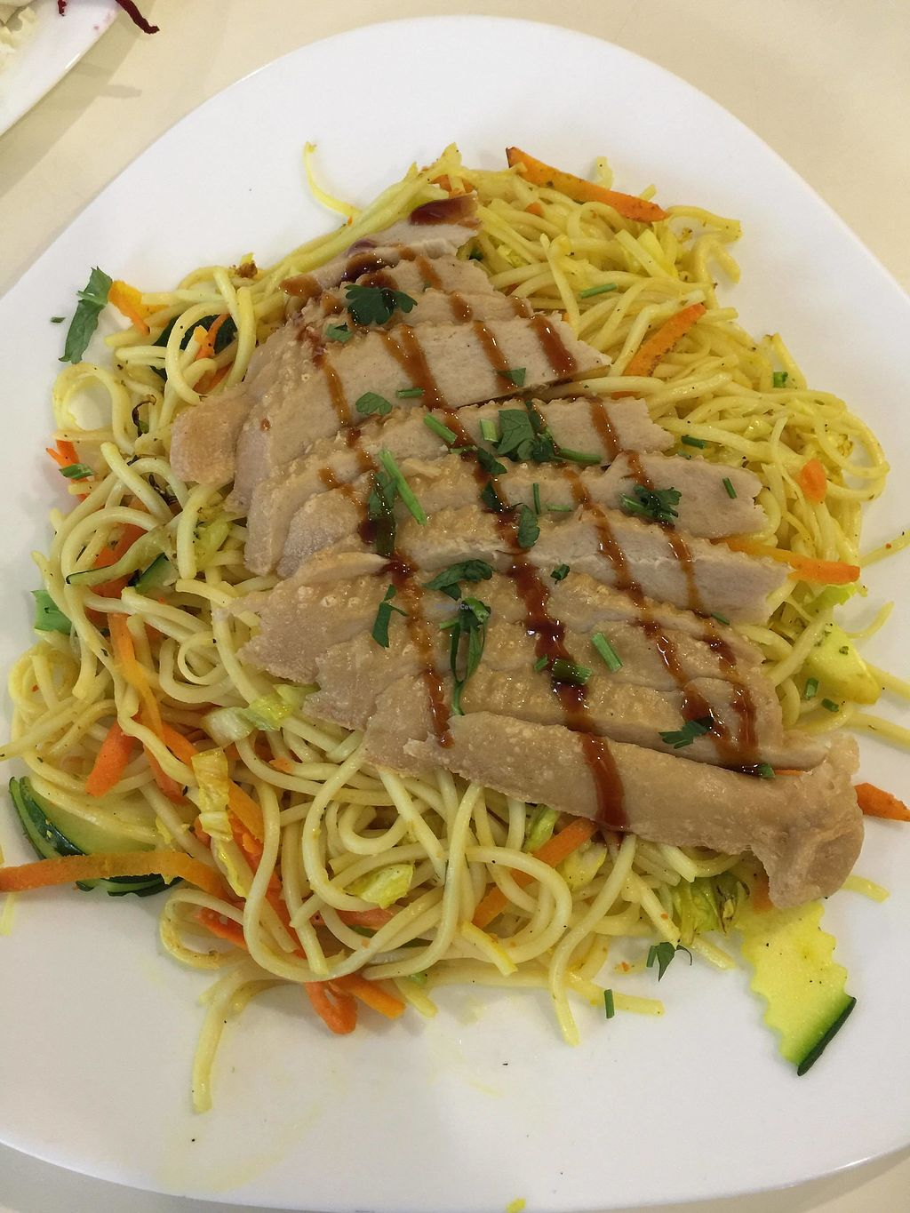 """Photo of Loving Hut - Warynskiego  by <a href=""""/members/profile/FernandoMoreira"""">FernandoMoreira</a> <br/>""""chicken"""" with noodles <br/> February 20, 2018  - <a href='/contact/abuse/image/43710/361881'>Report</a>"""
