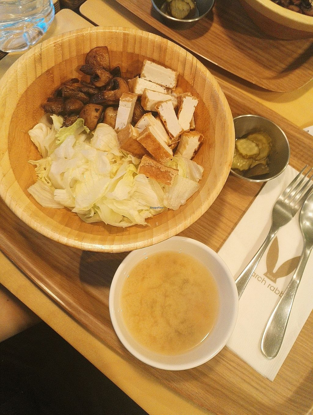 """Photo of March Rabbit - Gang-nam gu - 마치 래빗  by <a href=""""/members/profile/EOH"""">EOH</a> <br/>tofu rice bowl - didn't drink the soup as couldn't be sure was vegan  <br/> July 31, 2017  - <a href='/contact/abuse/image/43717/287279'>Report</a>"""