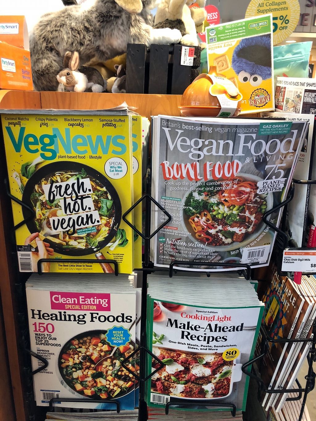 "Photo of Whole Foods Market  by <a href=""/members/profile/SaraSabo"">SaraSabo</a> <br/>Vegan magazines at eye level at check out! <br/> March 19, 2018  - <a href='/contact/abuse/image/4372/372722'>Report</a>"
