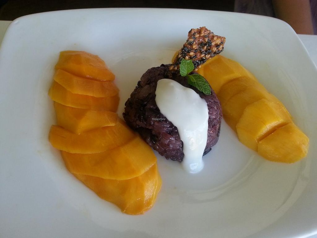 """Photo of Satdha Kitchen  by <a href=""""/members/profile/eric"""">eric</a> <br/>mango with forbidden sticky rice <br/> December 26, 2013  - <a href='/contact/abuse/image/43755/60950'>Report</a>"""