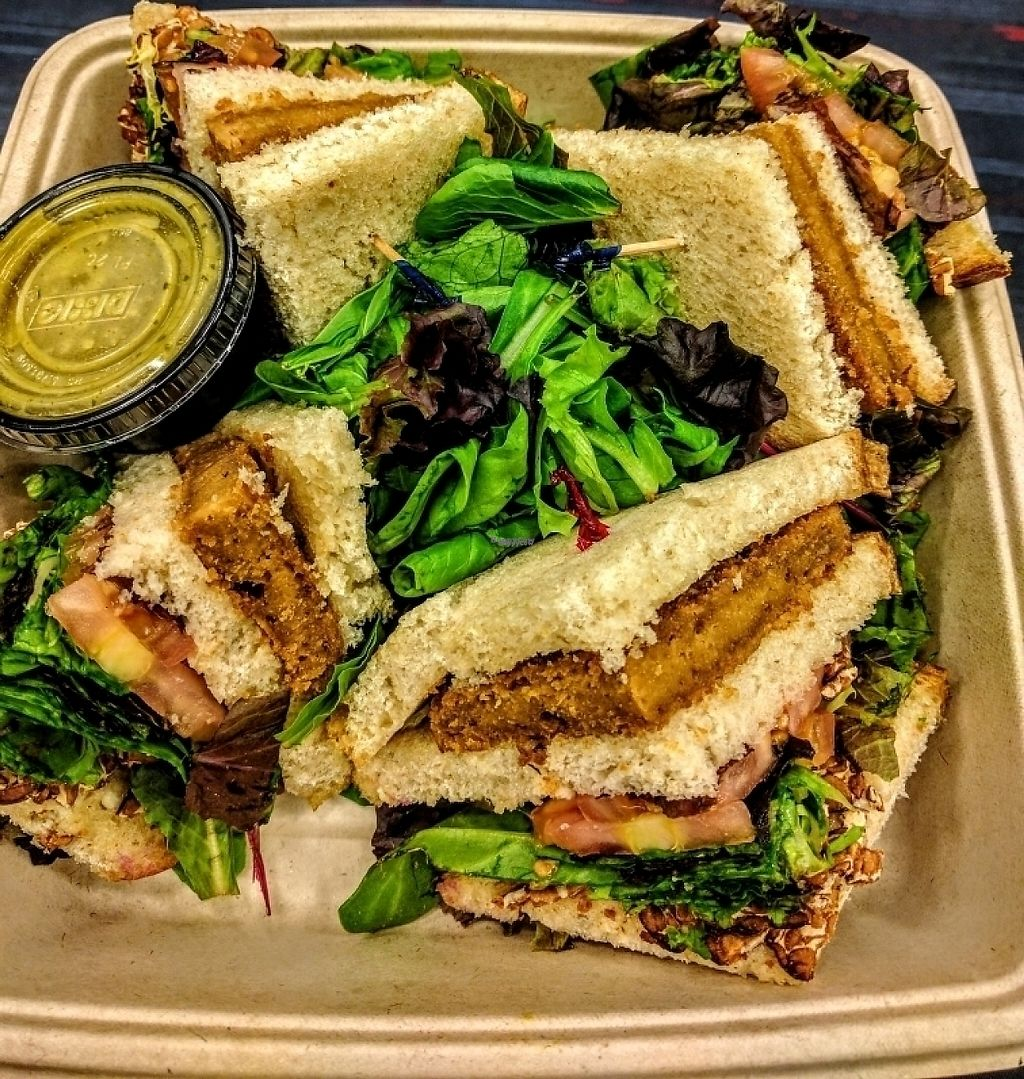 "Photo of LAX - Real Food Daily - T4  by <a href=""/members/profile/VeganSoapDude"">VeganSoapDude</a> <br/>Club Sandwich!  <br/> November 26, 2016  - <a href='/contact/abuse/image/43761/194521'>Report</a>"