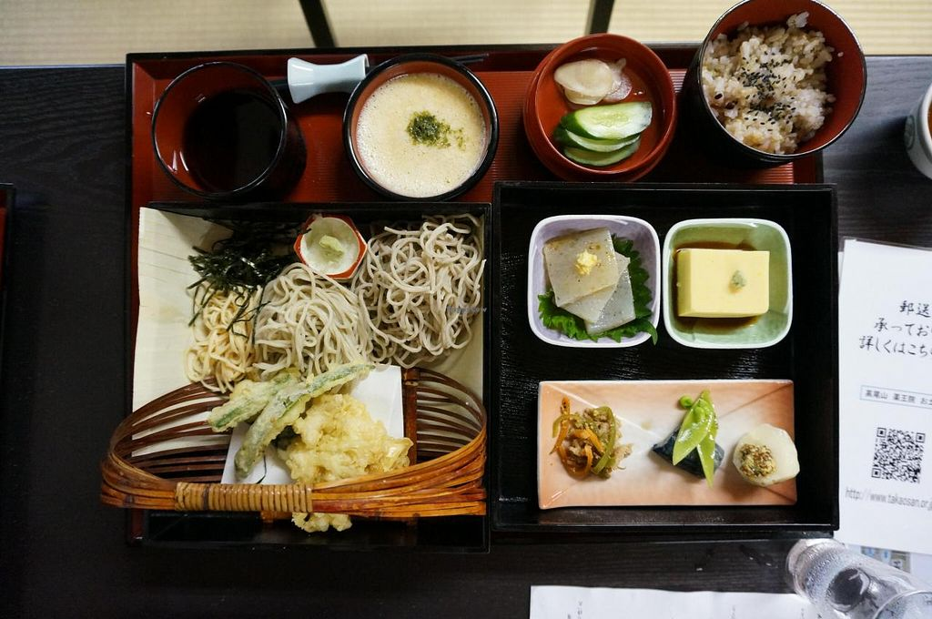 """Photo of Takao-san Yakuo-in  by <a href=""""/members/profile/Ricardo"""">Ricardo</a> <br/>Soba Gozen Set, Limited to summer season (1800yen) <br/> July 25, 2014  - <a href='/contact/abuse/image/43768/75071'>Report</a>"""