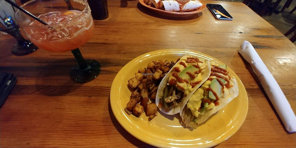 """Photo of Bueno Loco Restaurante  by <a href=""""/members/profile/pritchstan"""">pritchstan</a> <br/>Vegan breakfast tacos <br/> February 3, 2018  - <a href='/contact/abuse/image/43769/354617'>Report</a>"""