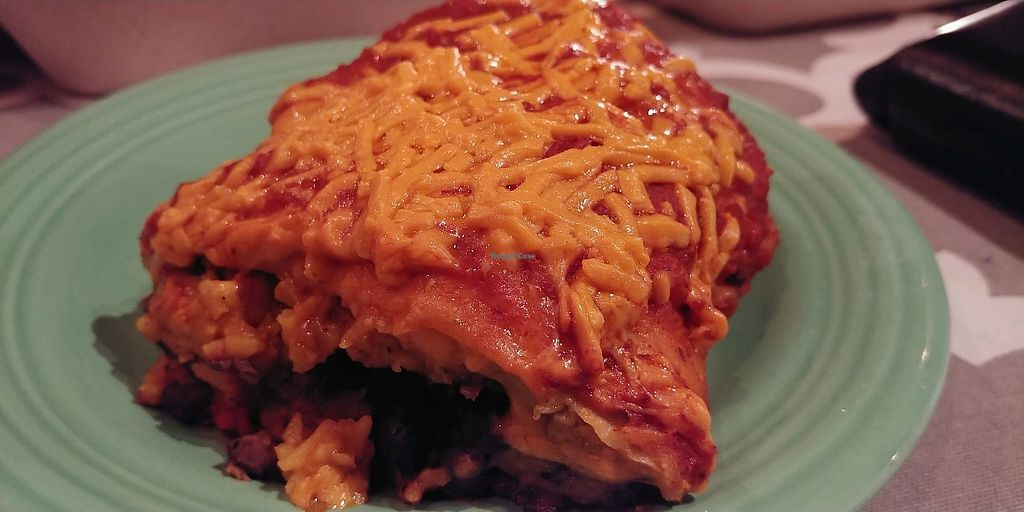 """Photo of Bueno Loco Restaurante  by <a href=""""/members/profile/pritchstan"""">pritchstan</a> <br/>Half of the delicious vegan chimichanga with Seitan  <br/> February 6, 2018  - <a href='/contact/abuse/image/43769/355489'>Report</a>"""