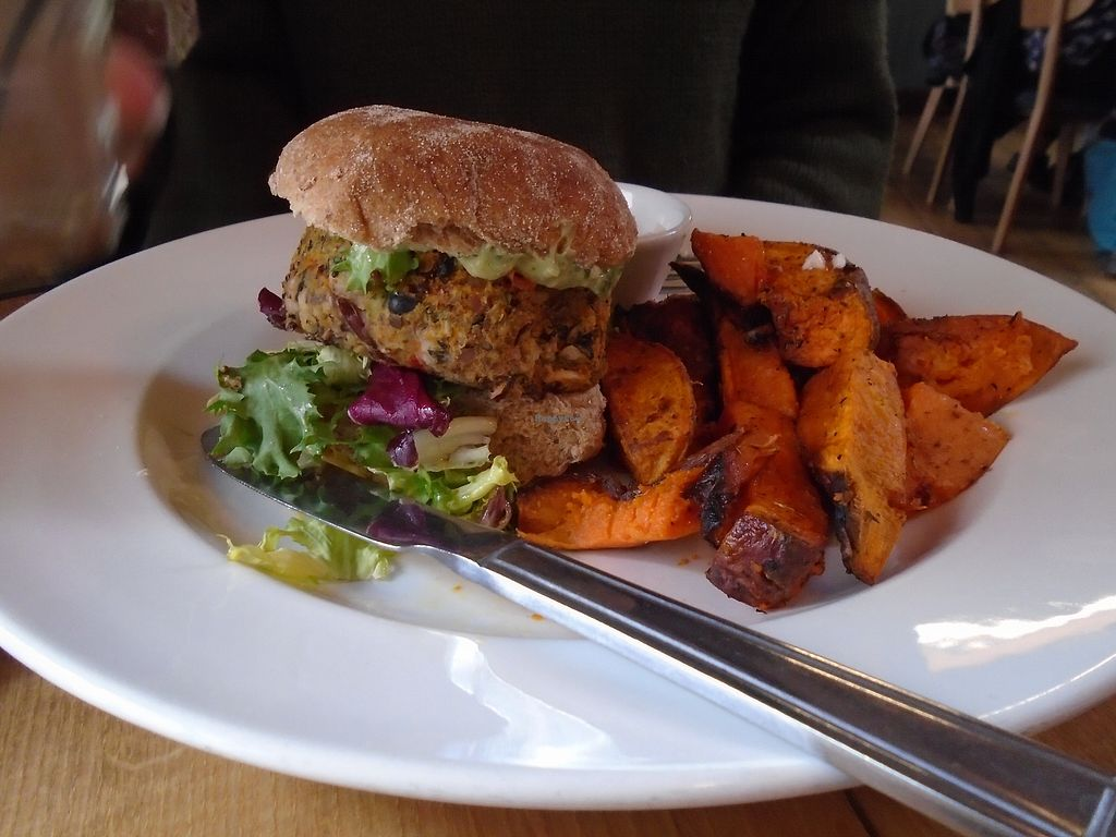 "Photo of Wild Thyme  by <a href=""/members/profile/vanillatea"">vanillatea</a> <br/>Vegan burger and sweet potato fires <br/> April 5, 2018  - <a href='/contact/abuse/image/43777/381276'>Report</a>"