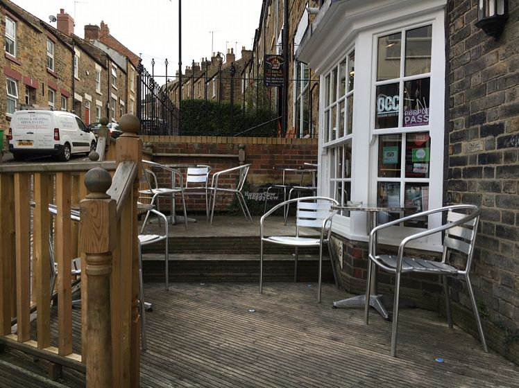 """Photo of Jumping Bean Cafe  by <a href=""""/members/profile/hack_man"""">hack_man</a> <br/>outside decking & seating  <br/> October 19, 2016  - <a href='/contact/abuse/image/43811/182956'>Report</a>"""