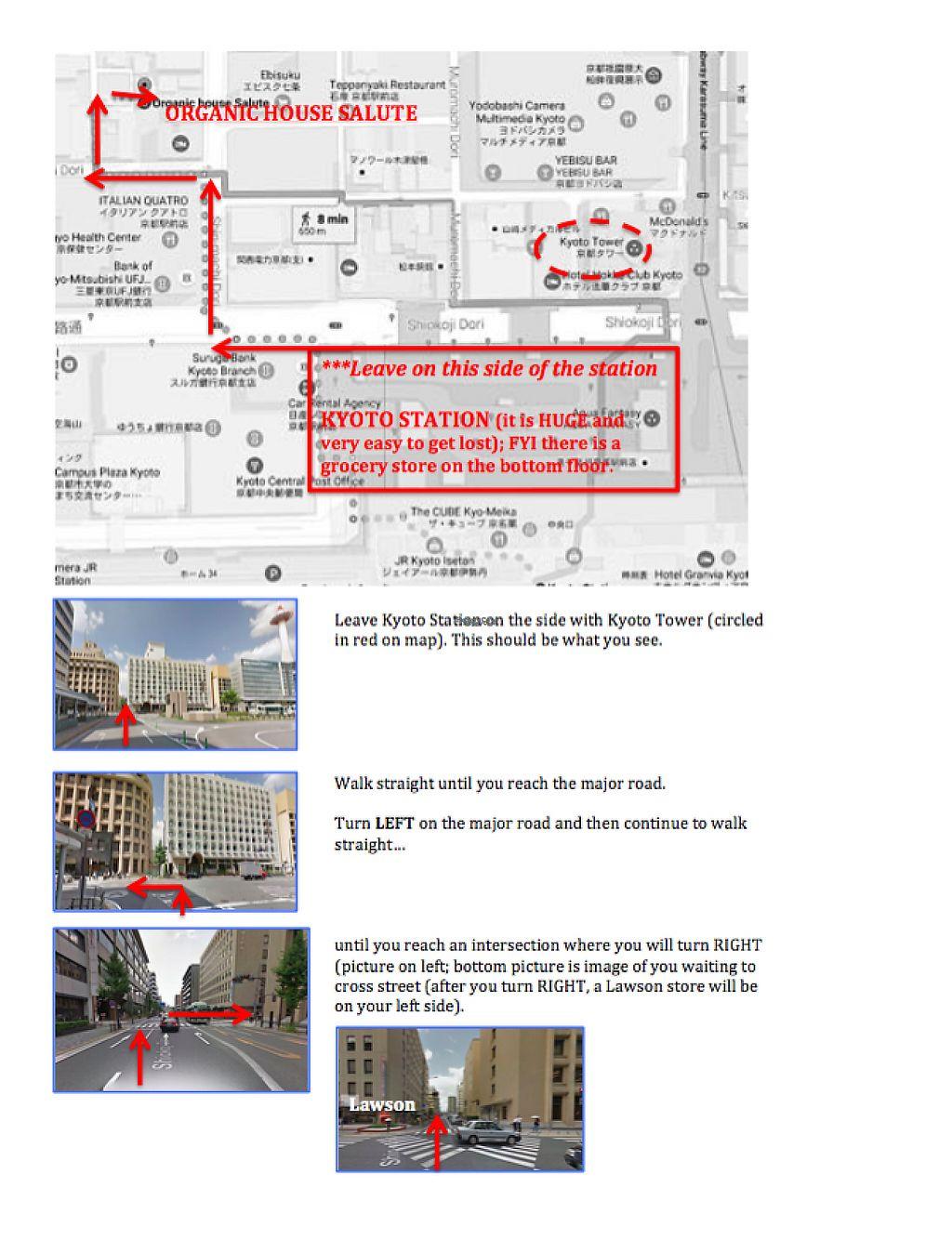 "Photo of Organic House Salute  by <a href=""/members/profile/alexanderamanda88"">alexanderamanda88</a> <br/>Directions to Organic House Salute from Kyoto Station- page 1 <br/> February 4, 2017  - <a href='/contact/abuse/image/43818/222413'>Report</a>"