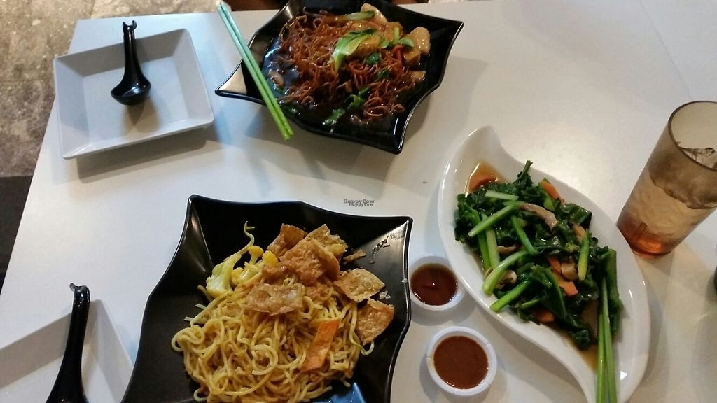 """Photo of Yuan Vegetarian Bistro  by <a href=""""/members/profile/KokoPaulli"""">KokoPaulli</a> <br/>Laksa fried noodle and crispy fried noodles with Gai Lan  <br/> February 11, 2017  - <a href='/contact/abuse/image/43835/225128'>Report</a>"""
