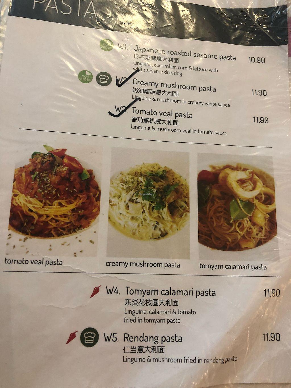 "Photo of Yuan Vegetarian Bistro  by <a href=""/members/profile/AmyLeySzeThoo"">AmyLeySzeThoo</a> <br/>Pasta Menu <br/> March 23, 2018  - <a href='/contact/abuse/image/43835/374767'>Report</a>"