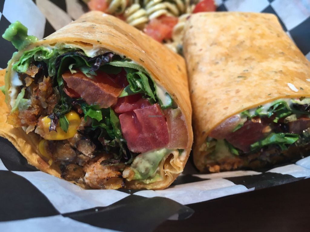 """Photo of The Gourmet Gang  by <a href=""""/members/profile/Larissasiegfried"""">Larissasiegfried</a> <br/>southwestern vegan wrap <br/> June 30, 2016  - <a href='/contact/abuse/image/43842/157019'>Report</a>"""