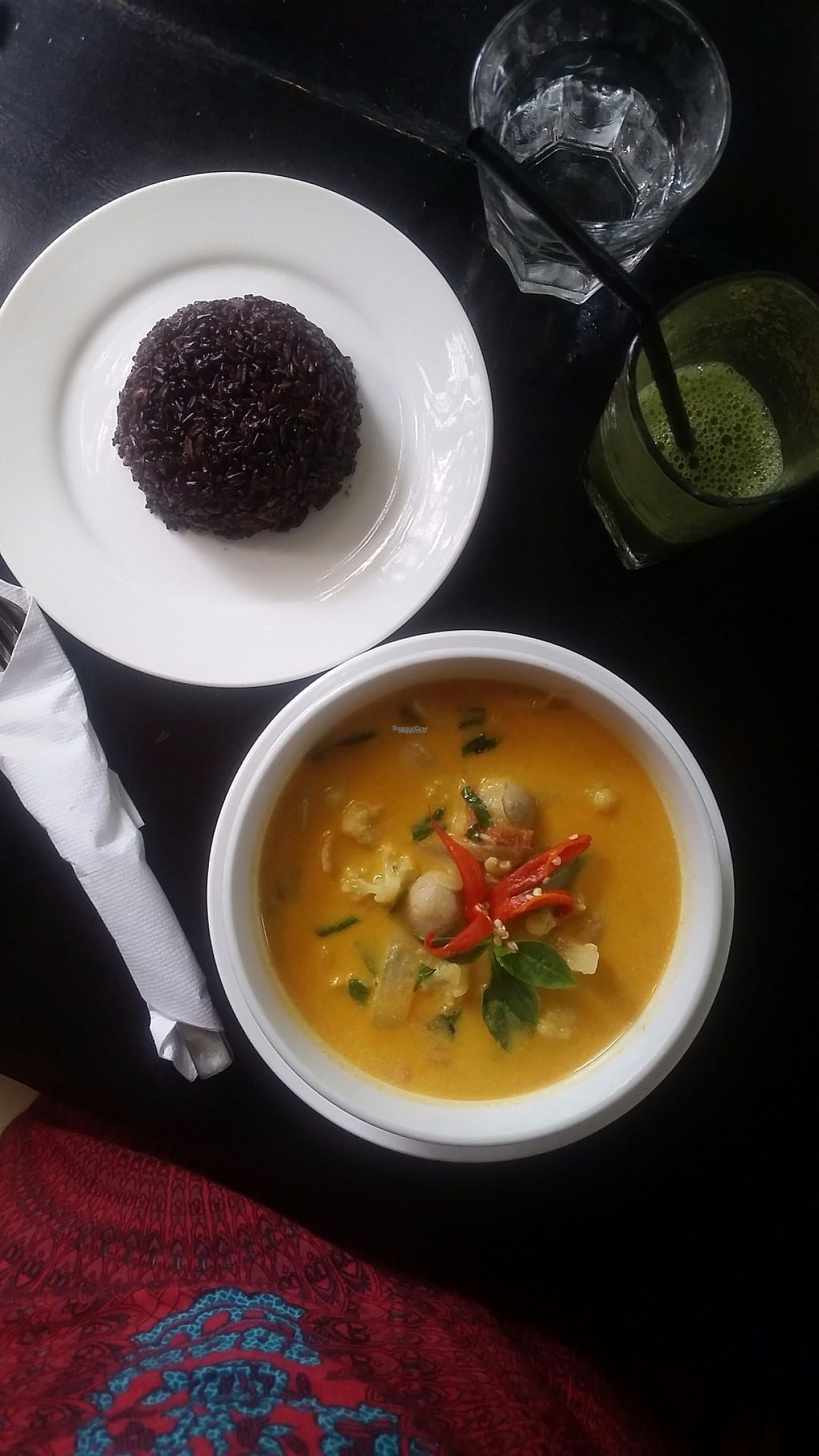 """Photo of The Corn  by <a href=""""/members/profile/Without_Cruelty_Blog"""">Without_Cruelty_Blog</a> <br/>Khmer Tom Yum with Black Rice <br/> November 11, 2016  - <a href='/contact/abuse/image/43847/188578'>Report</a>"""