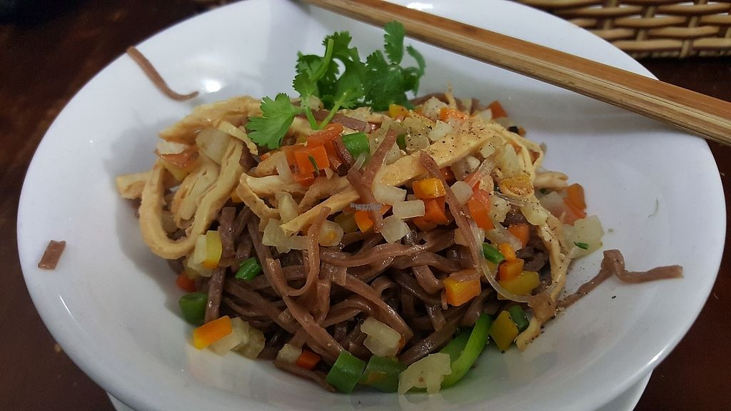 """Photo of Khai Minh 2  by <a href=""""/members/profile/Refinnej"""">Refinnej</a> <br/>Hu Tieu Khó (35k) brown rice noodle and vegetables served with soup on the side.  <br/> December 4, 2016  - <a href='/contact/abuse/image/43848/197237'>Report</a>"""