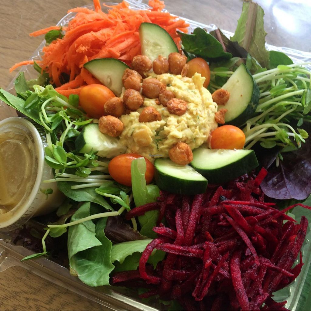 """Photo of The Sweet Beet  by <a href=""""/members/profile/Thesweetbeet"""">Thesweetbeet</a> <br/>Sweet Beet Salad with a scoop of No Egg Salad <br/> June 10, 2015  - <a href='/contact/abuse/image/43858/105389'>Report</a>"""