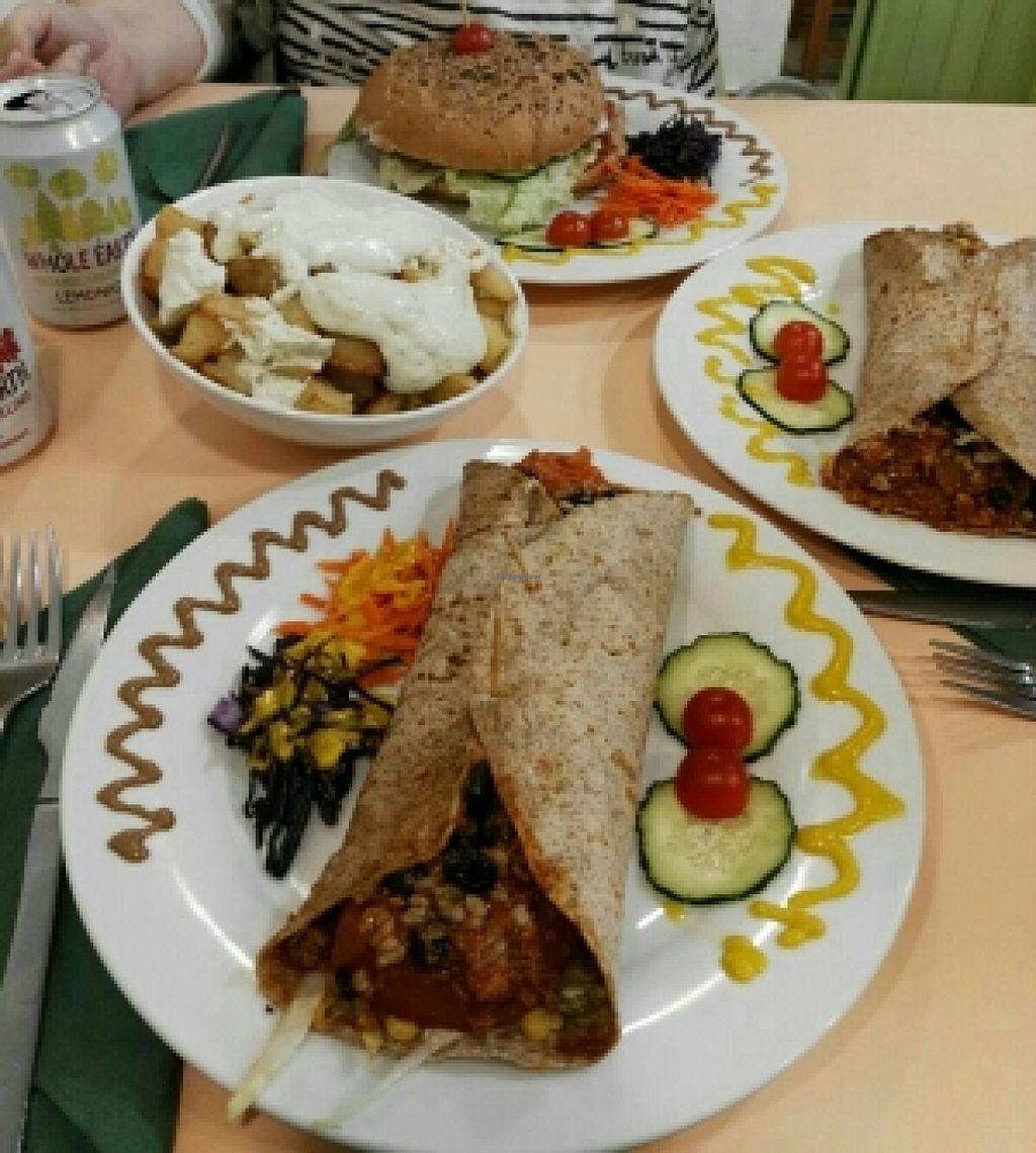 "Photo of CLOSED: Green Break Vegan Restaurant  by <a href=""/members/profile/CeliaCardoso"">CeliaCardoso</a> <br/>Burritos, Burguer y Patatas Alioli <br/> June 19, 2016  - <a href='/contact/abuse/image/43886/154721'>Report</a>"