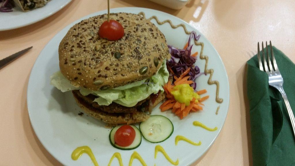 "Photo of CLOSED: Green Break Vegan Restaurant  by <a href=""/members/profile/nicolenoe"">nicolenoe</a> <br/>Very big vegan burger <br/> July 21, 2016  - <a href='/contact/abuse/image/43886/161420'>Report</a>"