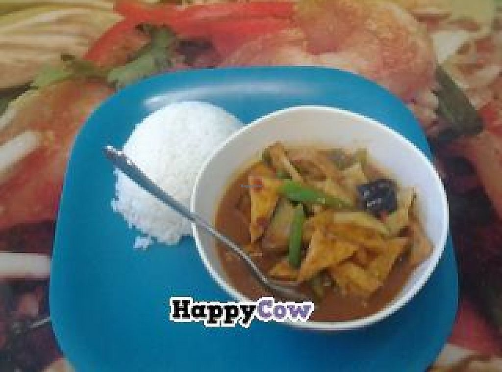 """Photo of CLOSED: Also Thai  by <a href=""""/members/profile/Vegan%20Tom"""">Vegan Tom</a> <br/>Red Curry with tofu at Also Thai <br/> December 13, 2013  - <a href='/contact/abuse/image/43893/232766'>Report</a>"""