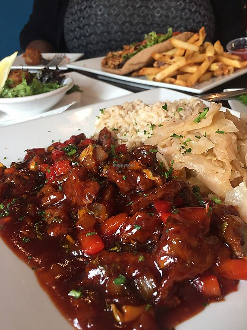 """Photo of Flight - American Fusion Restaurant & Bar  by <a href=""""/members/profile/MeganGriffith"""">MeganGriffith</a> <br/>Aunt Jackie's Ribs <br/> August 29, 2017  - <a href='/contact/abuse/image/43894/298614'>Report</a>"""
