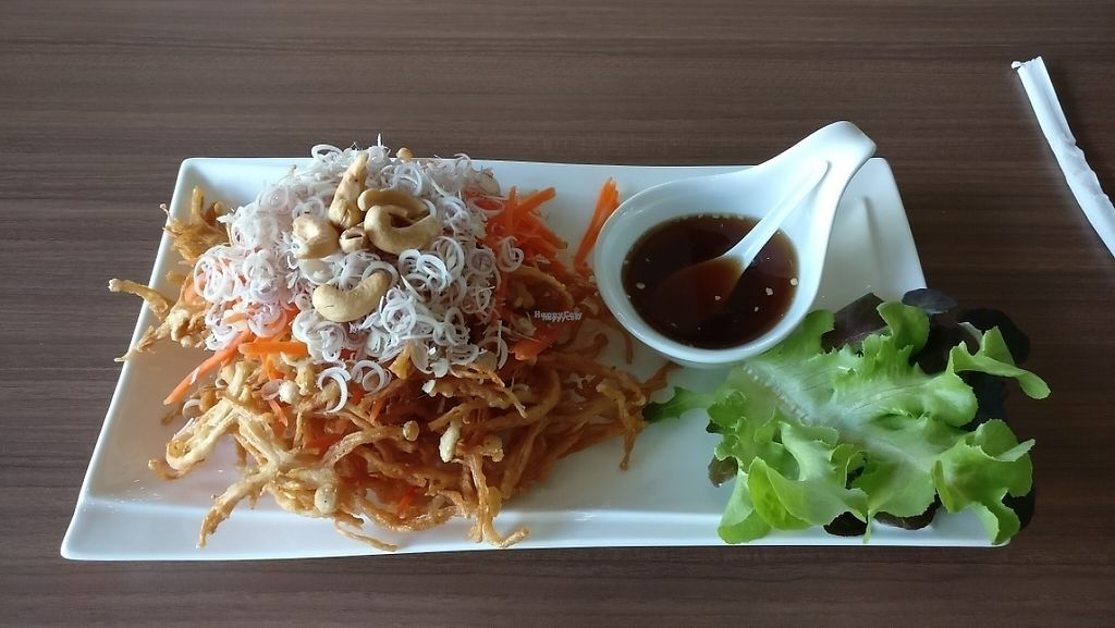 """Photo of CLOSED: J Kitchen  by <a href=""""/members/profile/davidredstone"""">davidredstone</a> <br/>Lemongrass, golden (fried) mushroom salad  <br/> March 27, 2017  - <a href='/contact/abuse/image/43922/241695'>Report</a>"""