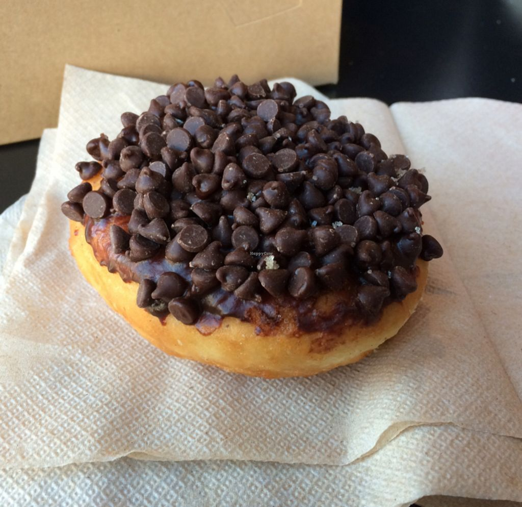 "Photo of Glory Doughnuts  by <a href=""/members/profile/annabazoo"">annabazoo</a> <br/>Darth Vader doughnut: mini chocolate chips on top with vanilla creme inside <br/> December 8, 2015  - <a href='/contact/abuse/image/43952/127637'>Report</a>"