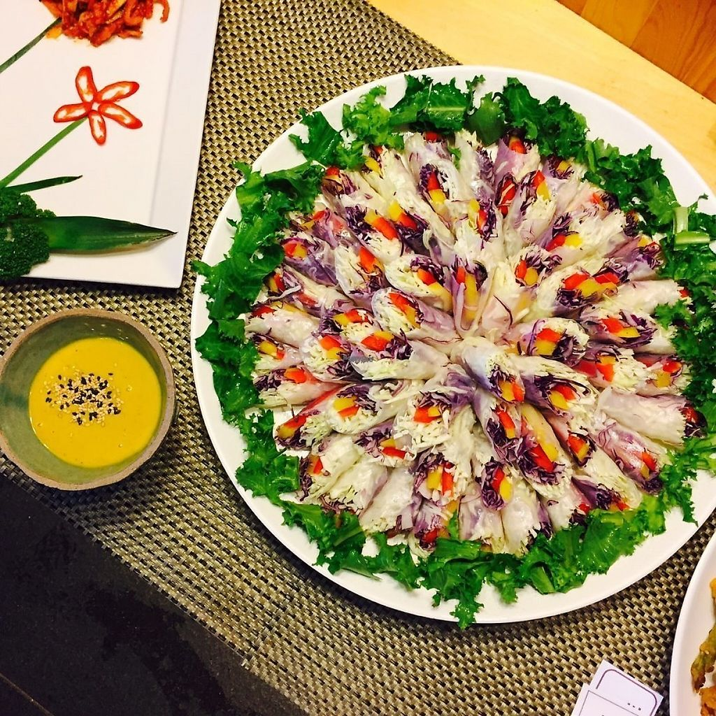 """Photo of Garobee Well Being Buffet  by <a href=""""/members/profile/huijeong"""">huijeong</a> <br/> Vietnamese Spring Rolls rice and condiments wrapped in leaves of lettuce, cabbage, sesame, or other greens <br/> January 18, 2017  - <a href='/contact/abuse/image/43988/213010'>Report</a>"""