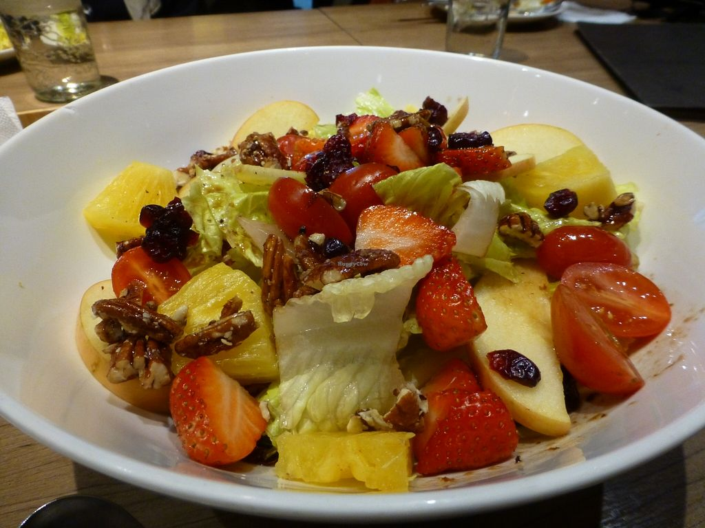 """Photo of MiaCucina My Kitchen - Tianmu  by <a href=""""/members/profile/steveveg"""">steveveg</a> <br/>MiaCucina Strawberry Pecan Salad <br/> April 4, 2016  - <a href='/contact/abuse/image/44030/142707'>Report</a>"""
