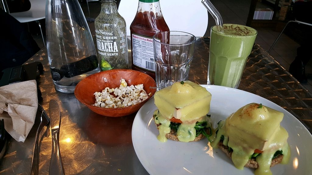 """Photo of CLOSED: Doug McNish Public Kitchen  by <a href=""""/members/profile/ThomasAppleyard"""">ThomasAppleyard</a> <br/>Vegan benedict <br/> October 21, 2017  - <a href='/contact/abuse/image/44052/317310'>Report</a>"""