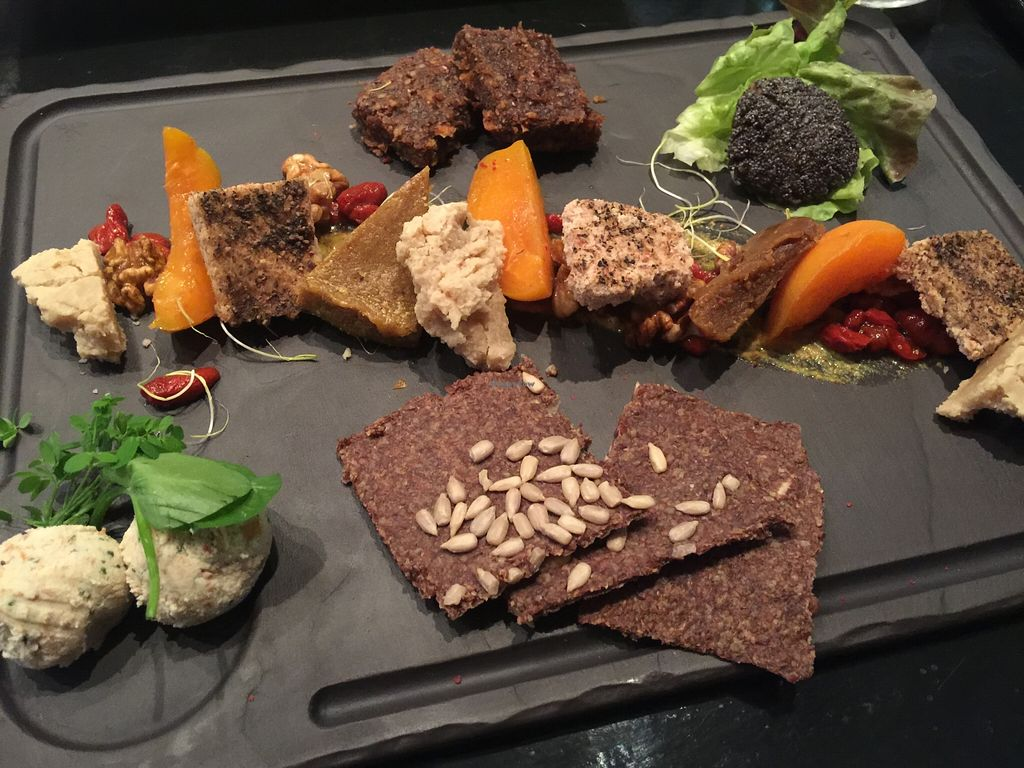 """Photo of 42 Degres  by <a href=""""/members/profile/Anne%20VDH"""">Anne VDH</a> <br/>Homemade nut cheese plate from 42 Degres <br/> March 15, 2016  - <a href='/contact/abuse/image/44057/140077'>Report</a>"""
