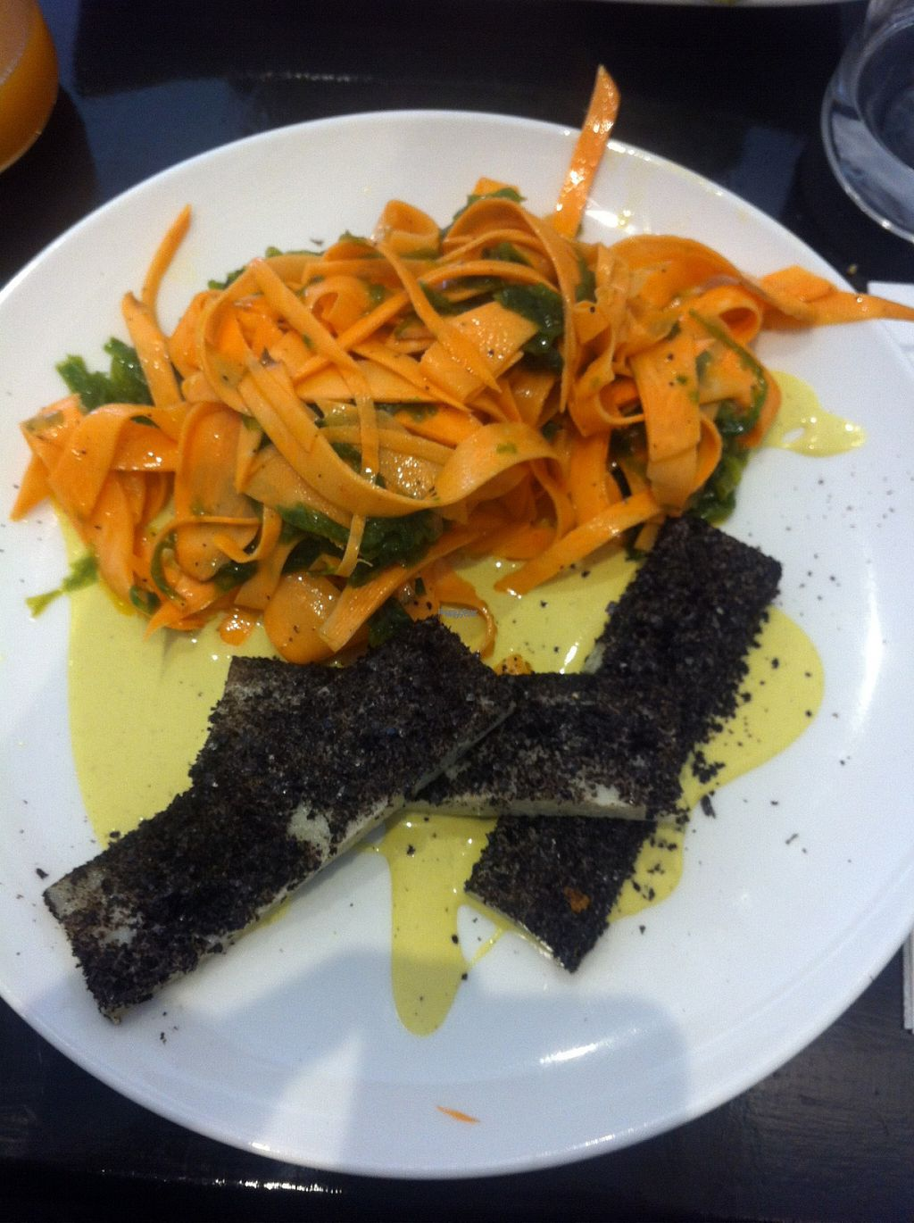"""Photo of 42 Degres  by <a href=""""/members/profile/piffelina"""">piffelina</a> <br/>Main course. If you enjoy smoky taste of seaweed, you will probably really enjoy this meal <br/> August 2, 2016  - <a href='/contact/abuse/image/44057/164449'>Report</a>"""