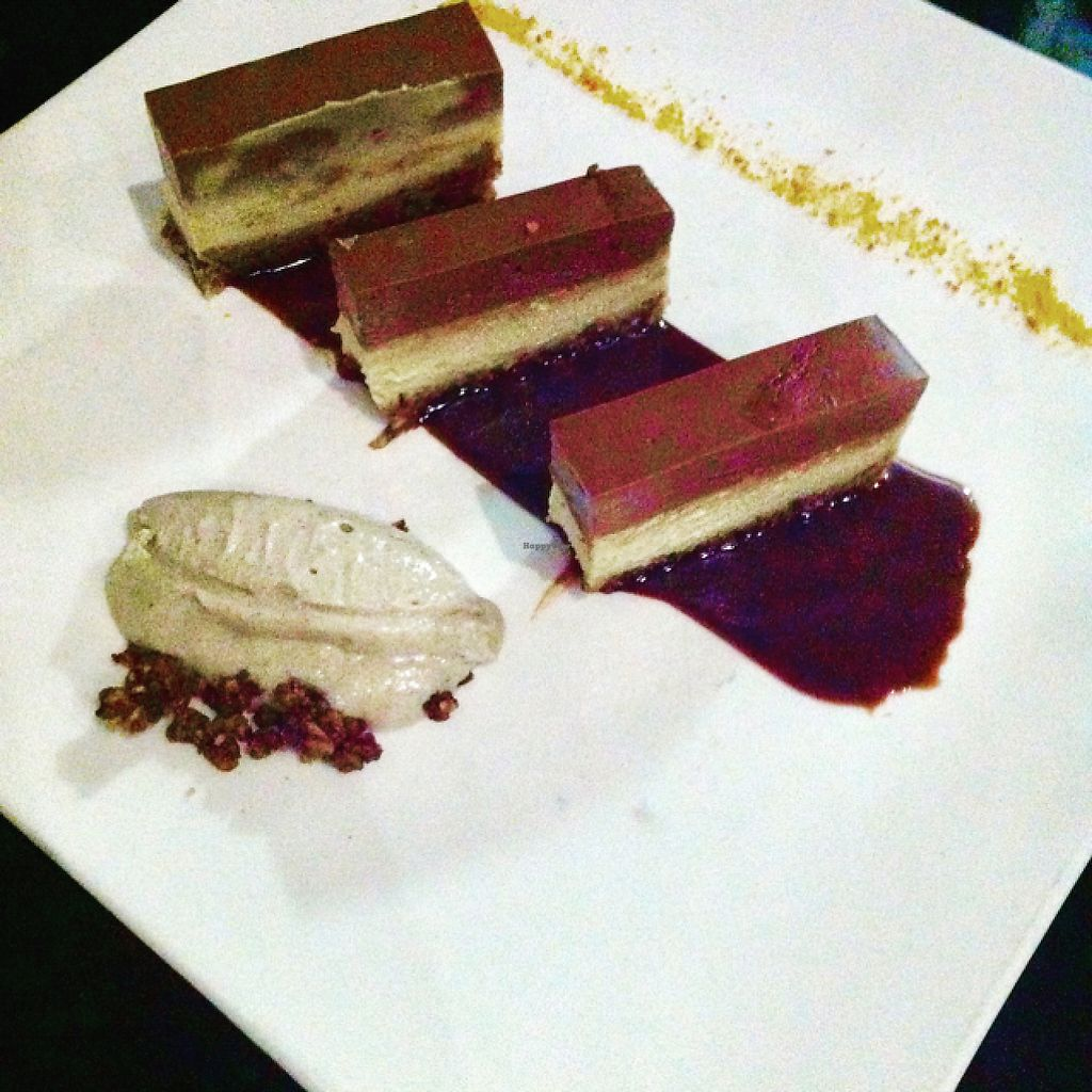 """Photo of 42 Degres  by <a href=""""/members/profile/hokusai77"""">hokusai77</a> <br/>Triple-chocolate cake with licorice gelato <br/> May 1, 2017  - <a href='/contact/abuse/image/44057/254537'>Report</a>"""