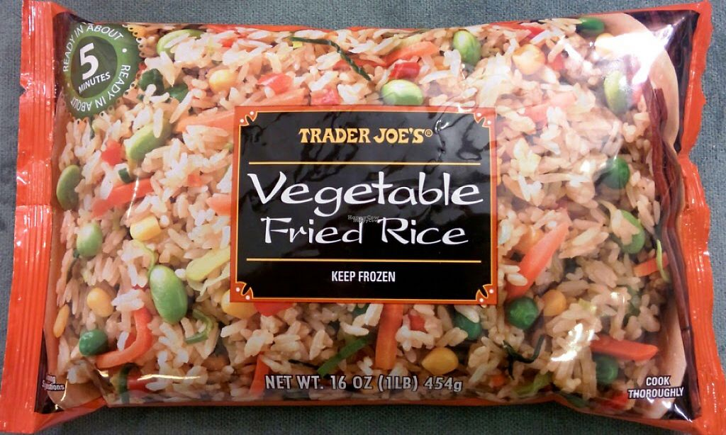 "Photo of Trader Joe's  by <a href=""/members/profile/MissMicheleJ"">MissMicheleJ</a> <br/>Vegan veggie fried rice! yummy! <br/> March 30, 2017  - <a href='/contact/abuse/image/44074/242542'>Report</a>"