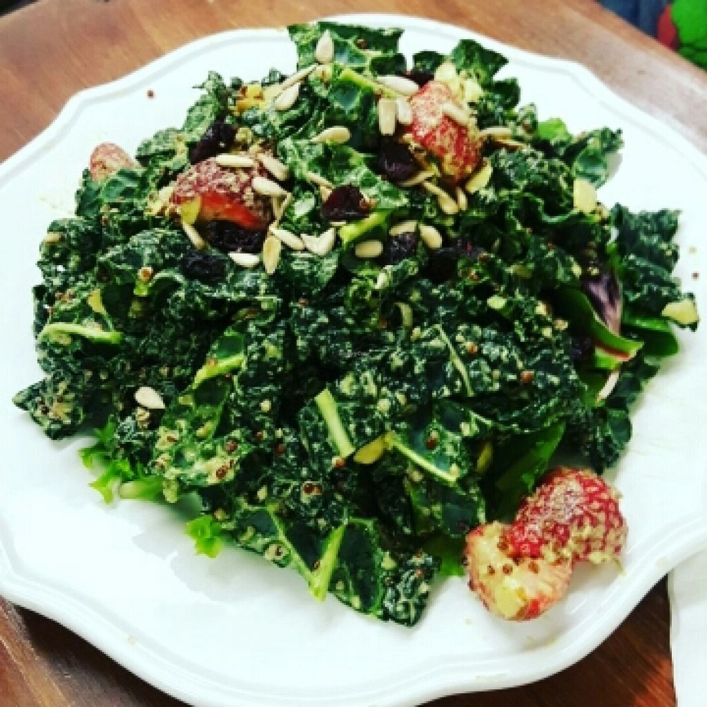 """Photo of 24 Carrots  by <a href=""""/members/profile/VegManda"""">VegManda</a> <br/>Kale Salad <br/> March 6, 2016  - <a href='/contact/abuse/image/44118/139050'>Report</a>"""