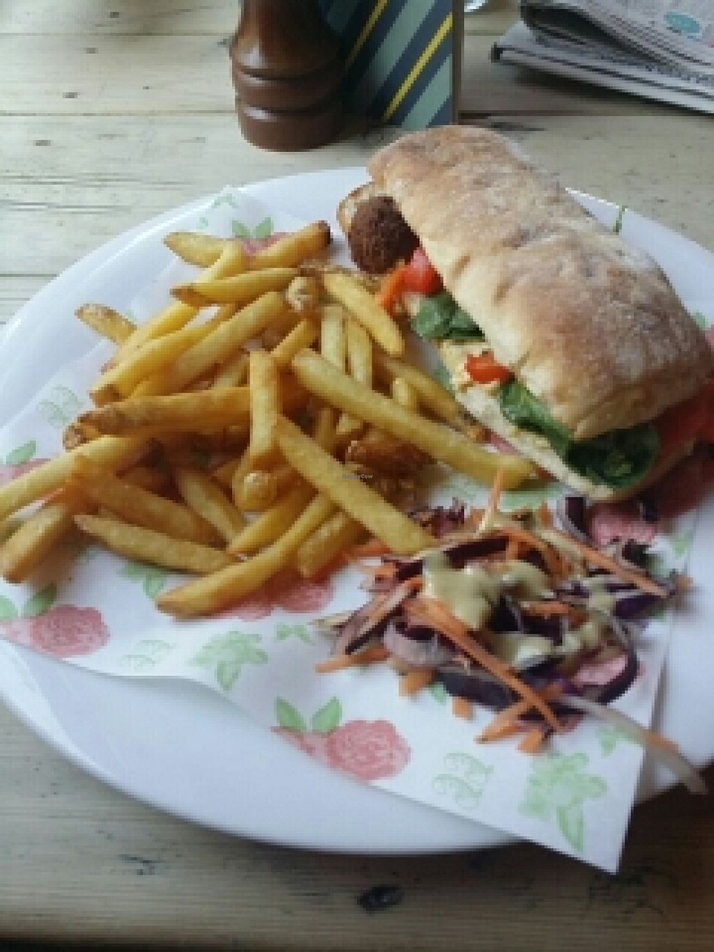 """Photo of The Cosy Club  by <a href=""""/members/profile/Tamono"""">Tamono</a> <br/>Vegan Falafel Sandwich <br/> April 13, 2016  - <a href='/contact/abuse/image/44123/144361'>Report</a>"""