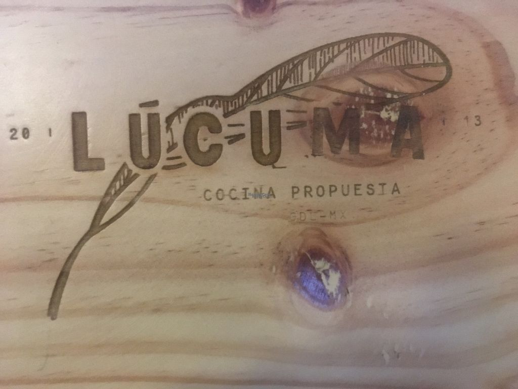 "Photo of Lucuma  by <a href=""/members/profile/DannyMac"">DannyMac</a> <br/>The beautiful branding on the woodsy new table and chair sets <br/> October 23, 2016  - <a href='/contact/abuse/image/44126/183847'>Report</a>"