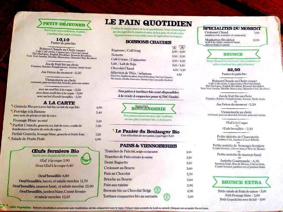"""Photo of Le Pain Quotidien  by <a href=""""/members/profile/Kyttiara"""">Kyttiara</a> <br/>food and drinks menu <br/> September 21, 2016  - <a href='/contact/abuse/image/44140/177118'>Report</a>"""