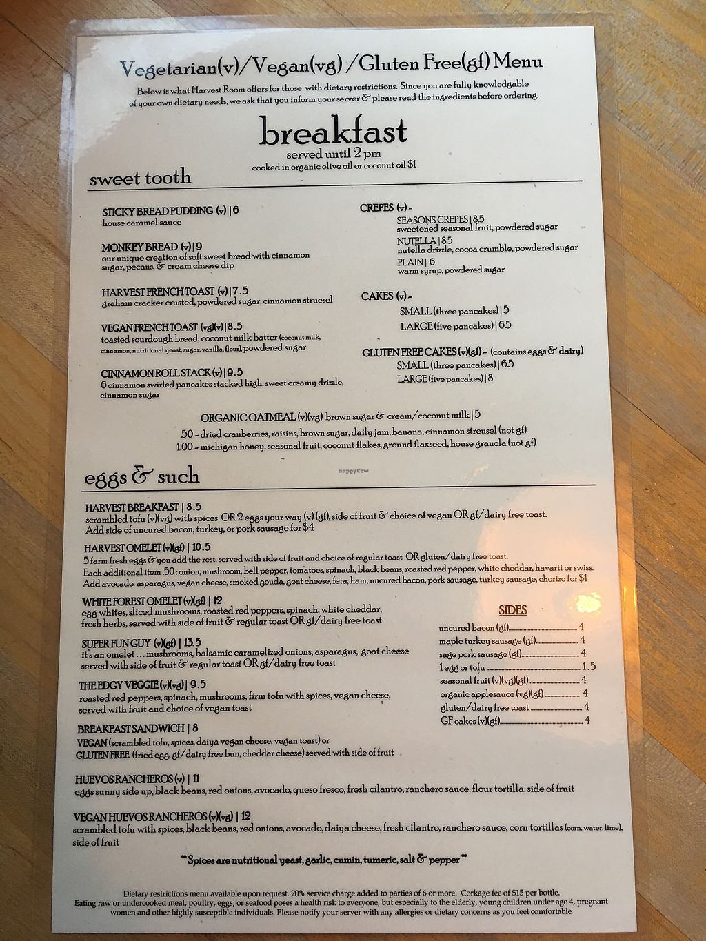 "Photo of Harvest Room  by <a href=""/members/profile/BrooklebeexD"">BrooklebeexD</a> <br/>Breakfast menu <br/> October 2, 2017  - <a href='/contact/abuse/image/44153/311172'>Report</a>"