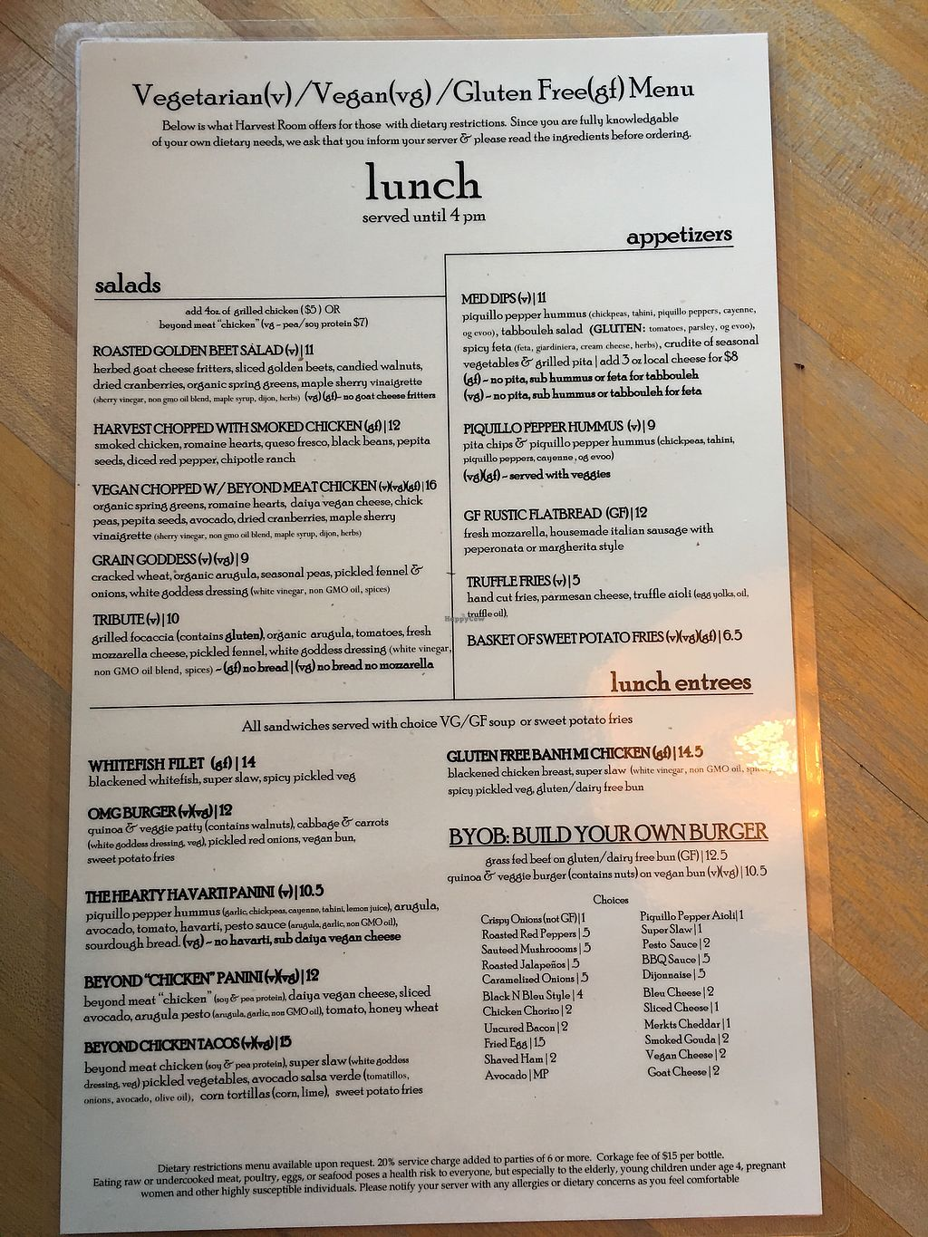 "Photo of Harvest Room  by <a href=""/members/profile/BrooklebeexD"">BrooklebeexD</a> <br/>Lunch menu <br/> October 2, 2017  - <a href='/contact/abuse/image/44153/311173'>Report</a>"