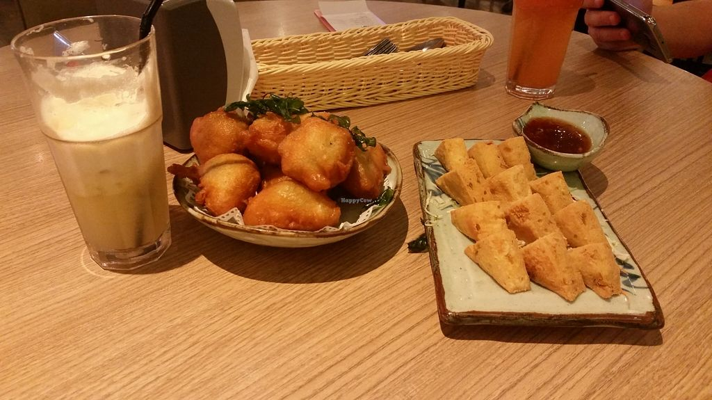 """Photo of Simple Life - Jalan Sultan Ismail  by <a href=""""/members/profile/mrrfrost"""">mrrfrost</a> <br/>Pumpkin wedges and fried tofu <br/> October 28, 2015  - <a href='/contact/abuse/image/44155/122932'>Report</a>"""