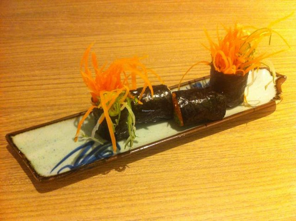 """Photo of Simple Life - Jalan Sultan Ismail  by <a href=""""/members/profile/kasia"""">kasia</a> <br/>carrot sushi rolls <br/> July 13, 2014  - <a href='/contact/abuse/image/44155/73950'>Report</a>"""