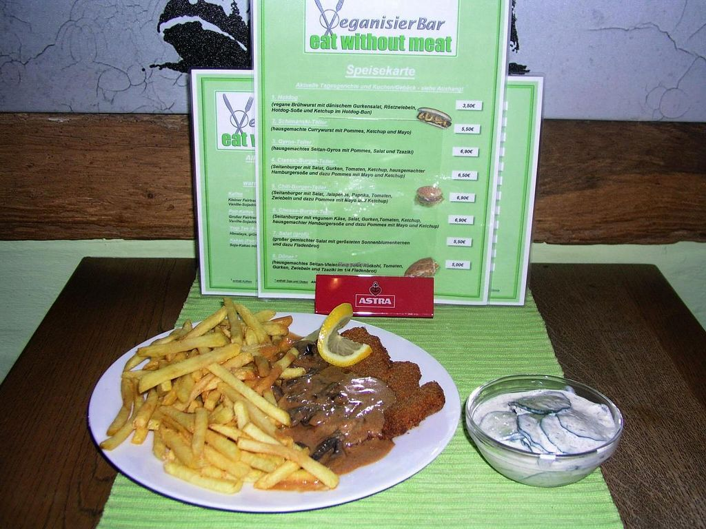 "Photo of CLOSED: VeganisierBar  by <a href=""/members/profile/eat_without_meat"">eat_without_meat</a> <br/>Anti-Jägerschnitzel <br/> November 23, 2014  - <a href='/contact/abuse/image/44173/86275'>Report</a>"