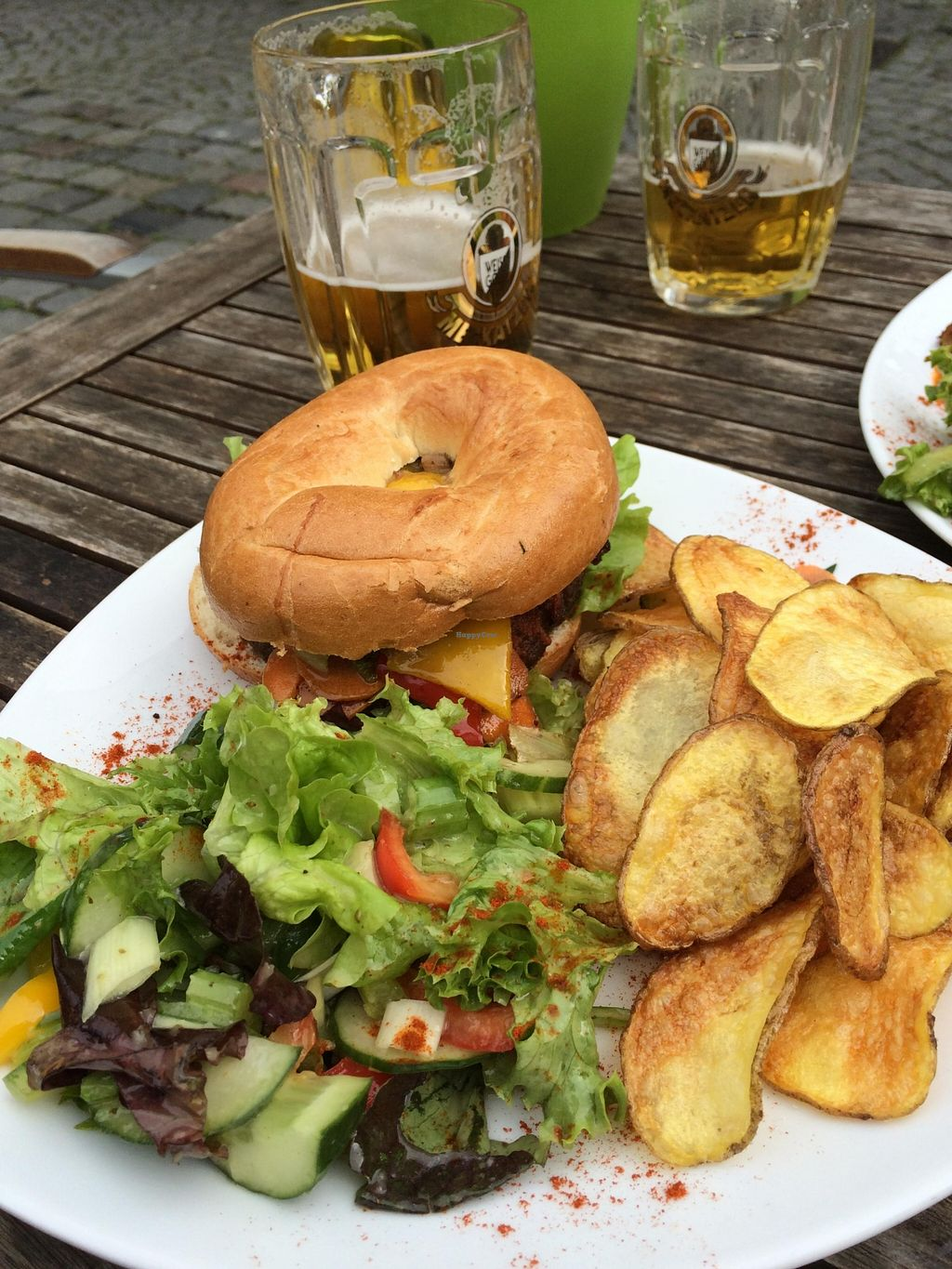 """Photo of Grossstadt  by <a href=""""/members/profile/ottofirn"""">ottofirn</a> <br/>Special Bagel Burguer (Vegan) <br/> September 22, 2015  - <a href='/contact/abuse/image/44224/118735'>Report</a>"""