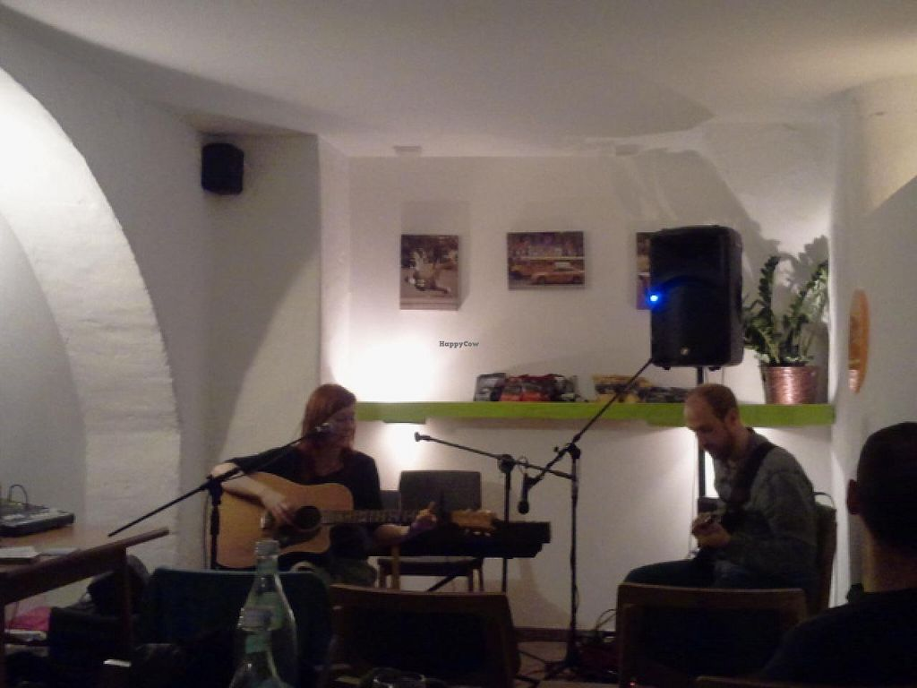 """Photo of Grossstadt  by <a href=""""/members/profile/Pareidolise"""">Pareidolise</a> <br/>vegan australian based singer songwriter Emaline Delapaix and Lukas Creswell-Rost (UK) are in the house <br/> March 21, 2015  - <a href='/contact/abuse/image/44224/96370'>Report</a>"""